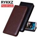 Роскошный кожаный флип-чехол RYKKZ для Meizu 15 5 45 ''  защитный чехол для мобильного телефона  кожаный чехол для Meizu 15 plus  бесплатная доставка