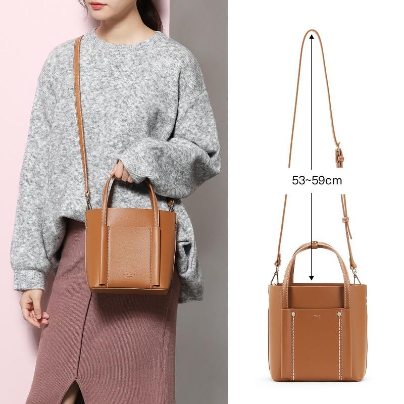 LACATTURA femmes épaule seau sacs concepteur femmes Composite sac à main petit luxe fourre-tout sac bandoulière pour dame mode sac à main - 3