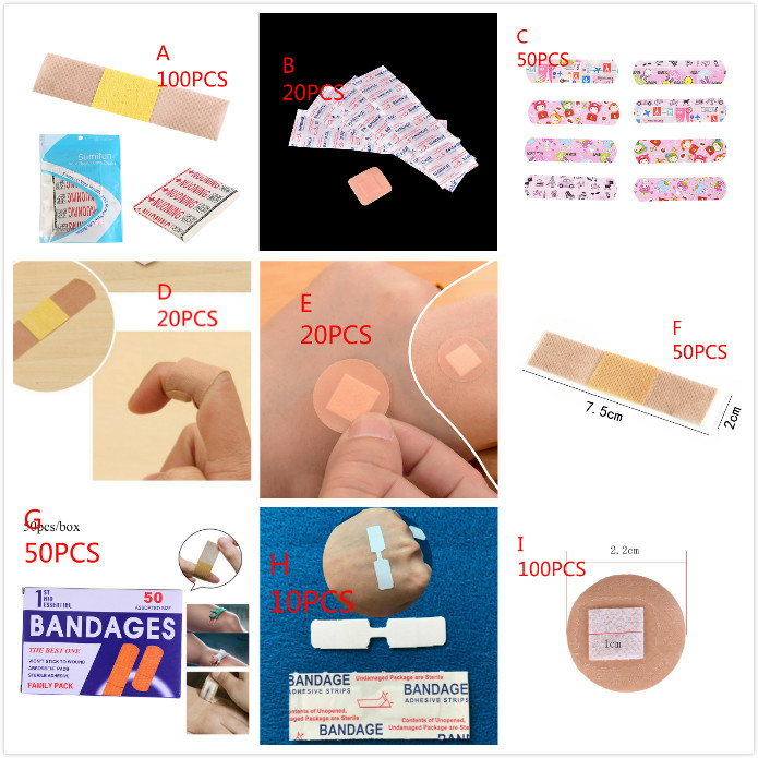 10/20/50/100pcs Waterproof Breathable Cute Cartoon Band Aid Hemostasis Adhesive Bandages First Aid Emergency For Kids Children
