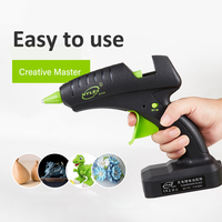 60W 12V Cordless Hot Glue Gun Rechargeable Electric Heating Tool with lithium Battery 2000mAh for DIY Arts Craft 11mm Glue Stick