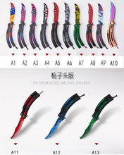 NEW butterfly knife CS GO Karambit practice folding Knife butterfly trainer game knife dull blade no edge tool camoufla