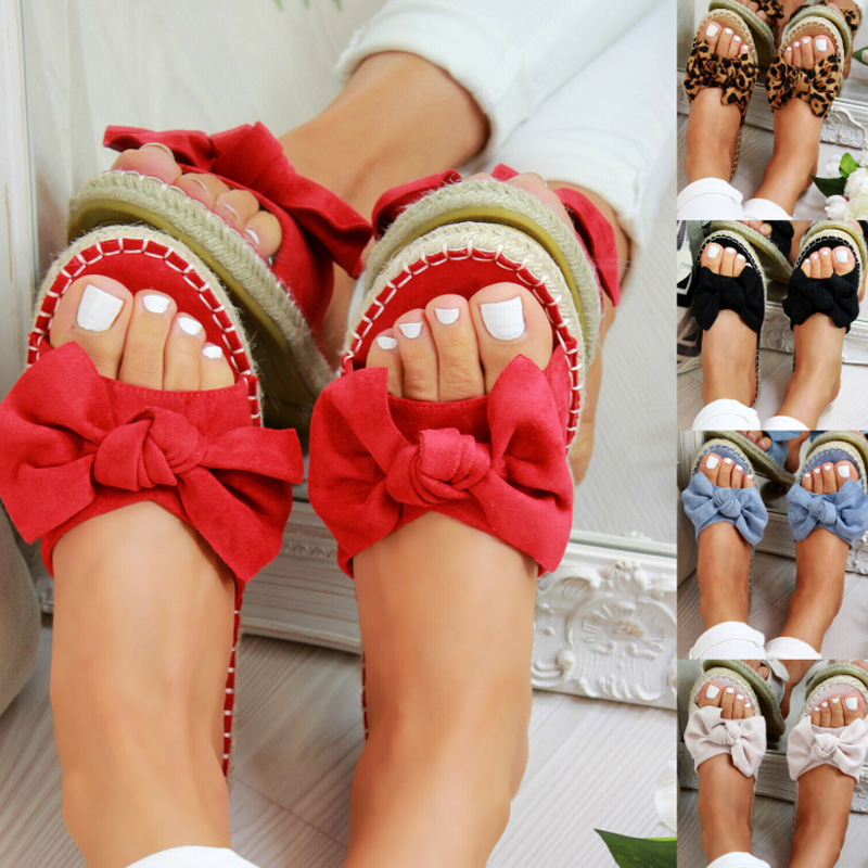 Sexy Summer Sandals Bow Knot Women Slippers Open Toe Ladies Outdoor Beach Flip Flops