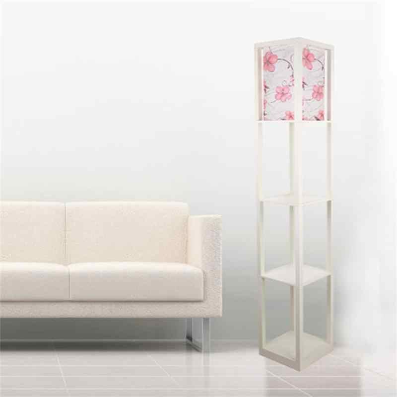 Moderno de madeira lâmpadas assoalho estante luzes mesa chá mesa estar lâmpada quarto sala estar armário nightstand iluminação