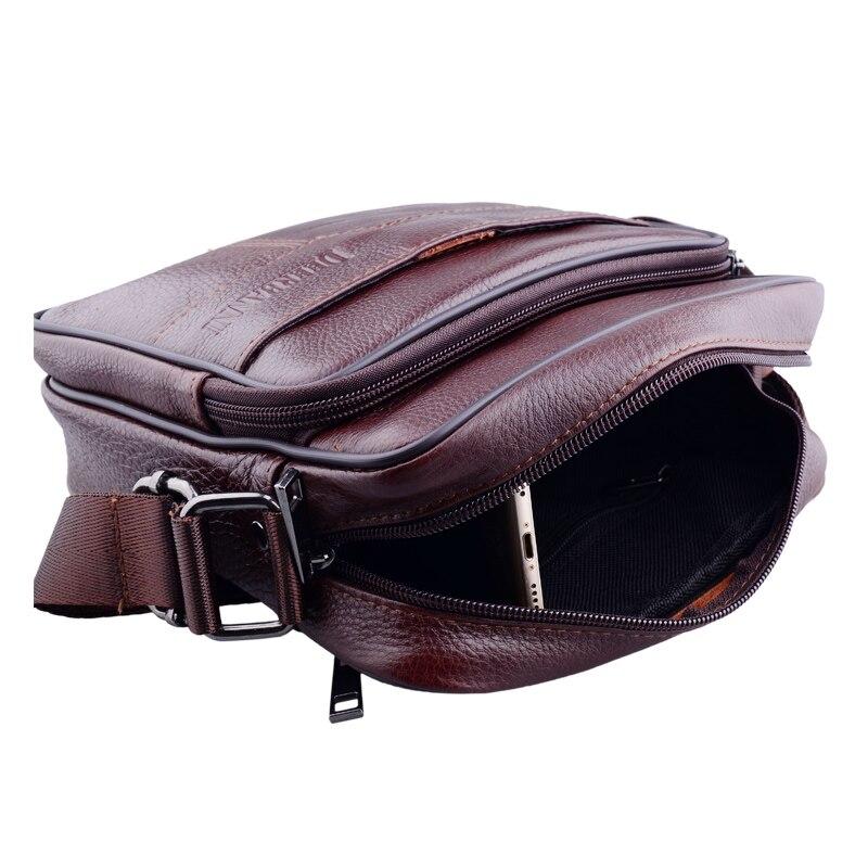 Genuine Leather Men Messenger Shoulder Bag Travel New Handbags Fashion natural Leather One shoulder Cross body Business Bags