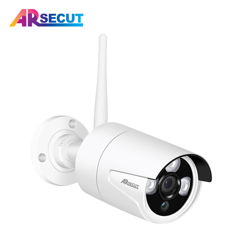 ARSECUT Security Camera Wireless 2.0MP/1.3MP Outdoor Camera Home Video Surveillcance WIFI Camera Built-in SD Card Slot