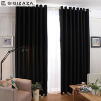 High Black Out Solid Fabric 90 Blinds Window Curtains Red Black Color Process Custom Size Shade
