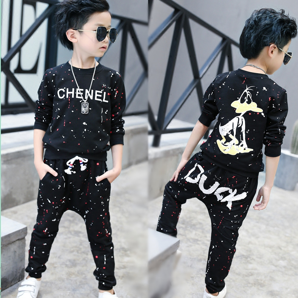 Boys clothes 2018 spring kids clothing set full sleeve sweatshirt and pants children outfit sport suits toddler autumn cartoon