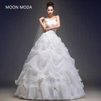 Vestido de novia estilo princesa novia 2018 sheap simple novia foto real weddingdress boda Vestido de Noiva