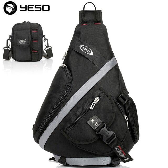 4a67020312b1 YESO Waterproof Oxford Big Sling Bag Men Messenger Bags Leisure Shoulder  Bags Fashion Crossbody Chest Pack