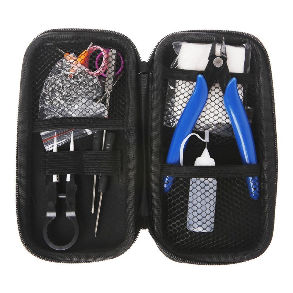 1 Satz Mini Vape DIY Werkzeugtasche Pinzette Zange Draht Heizungen Kit Spule Jig Wicklung Für Verpackung Elektronische Zigarette Zubehör