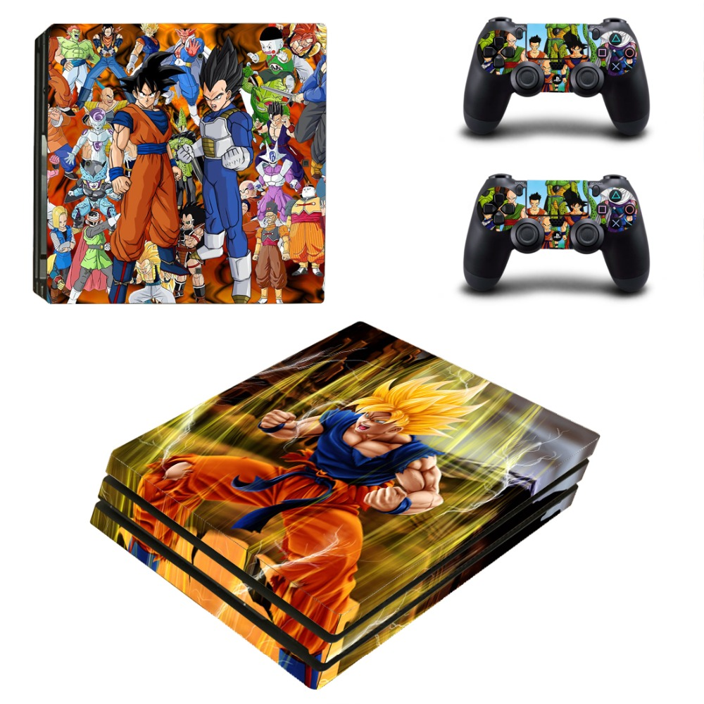 OSTSTICKER OSTSTICKER Super Saiyan Warrio Vinyl skin cover for Sony PS4 Pro console decal cover and controllers skins