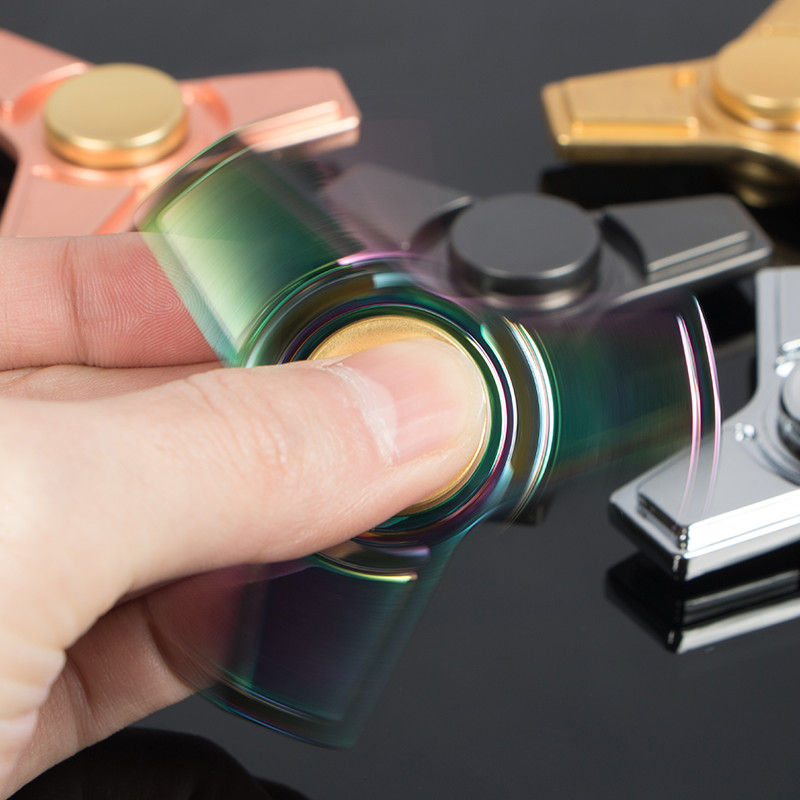 Toy Fidget Spinner Autism Adhd-Stress Metal Finger-Gyro Relieve-Toy EDC 5colorful img3
