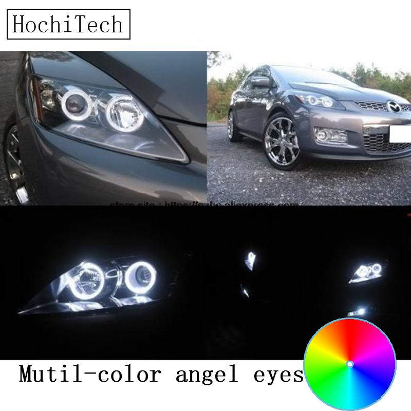 HochiTech for mazda CX-7 CX 7 2006 - 2012 car styling RGB LED Demon Angel Eyes Kit Halo Ring Day Light DRL with a remote control hochitech for mazda cx 7 cx 7 2006 2012 car styling rgb led demon angel eyes kit halo ring day light drl with a remote control