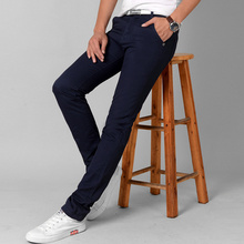 Fashion Men Slim Straight Casual Pants Cotton Linen Spring Summer Long Trousers with Pockets  -MX8