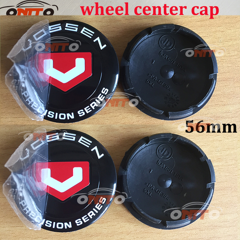 Image 4 - Car styling 4pcs/lot 56mm Black Car Custom Alloy ABS Rim Wheel Hub Hubcaps Center Center Caps Cover for vossen car emblem badge-in Wheel Center Caps from Automobiles & Motorcycles