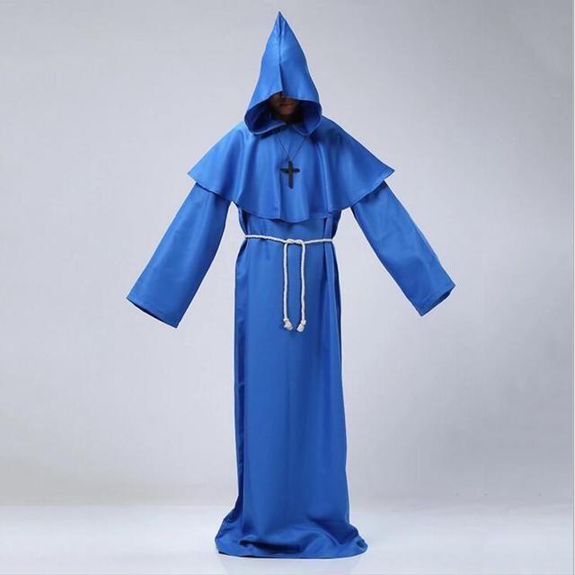 monk clothing halloween medieval costume monk robe wizard costume