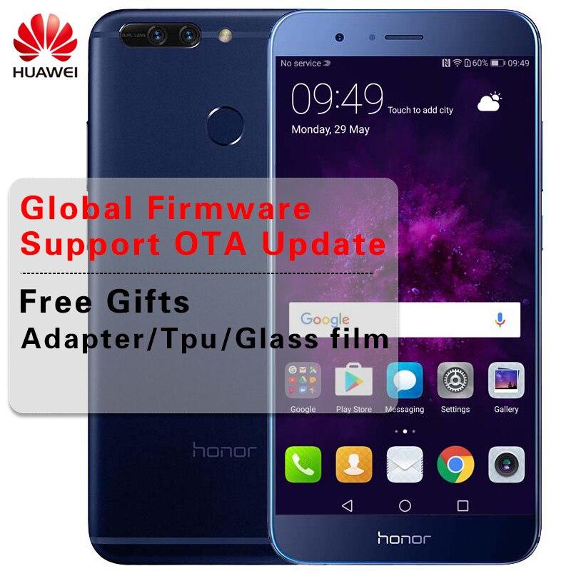 "Глобальной прошивки huawei Honor 8 PRO 4G/6G RAM 6 4G/128G ROM KIRIN 960 Octa Core 5,7 ""экран 2k сотовый телефон Android 7,0 4000 мАч NFC"