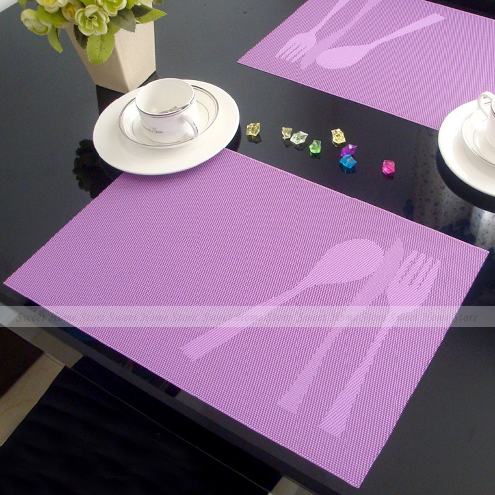 Online kopen wholesale paars placemats uit china paars placemats ...