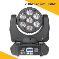 7*10W Mini Beam LED Moving Head Light RGBW 4IN1 Stage Light Dj Led Bulb Night Club Disco Party Show