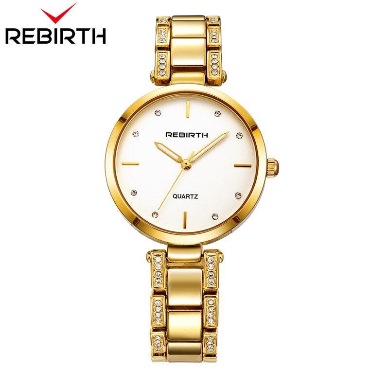 885eaf3d6534 RENAISSANCE Bracelet En Acier Femmes Montres Dames Occasionnels Montres Top  Marque De Luxe Or Bracelet À Quartz Horloge Classique Femmes Horloges 207