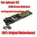 Para iphone 5s 64 gb boa trabalhando full função original desbloqueado motherboard placa lógica mainboard sem impressões digitais