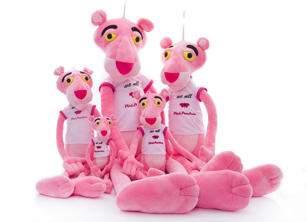50cm/80cm super lovely pink panther plush toy, pink panther sweatshirt,  T-shirt pink panther dolls,leopard plush toy doll