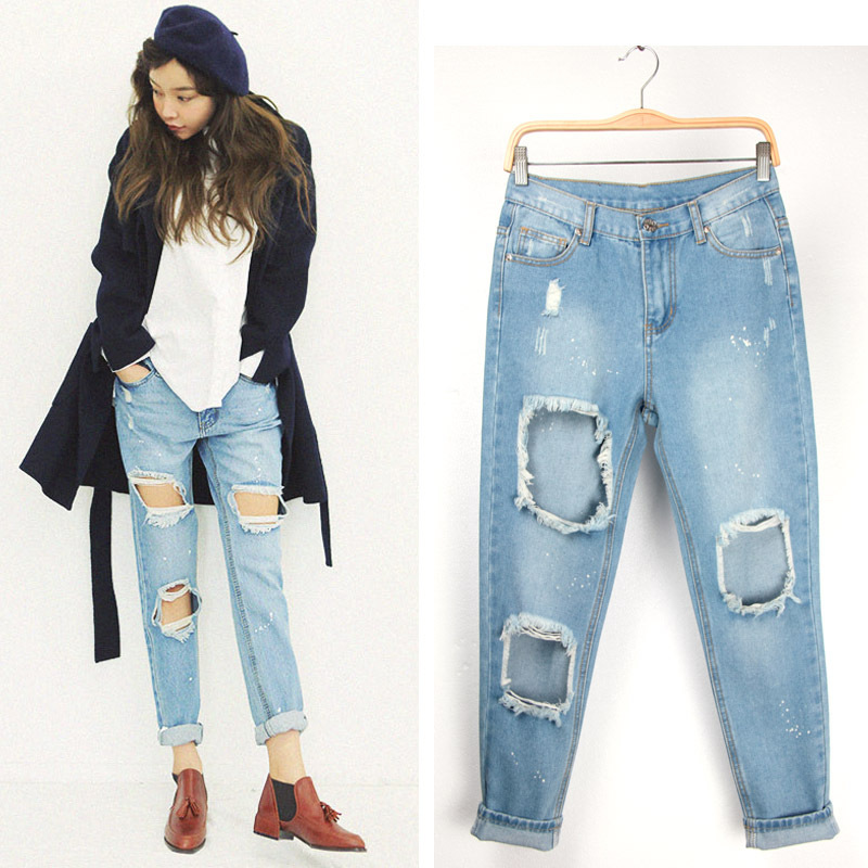 Plus Size Ripped Jeans For Women