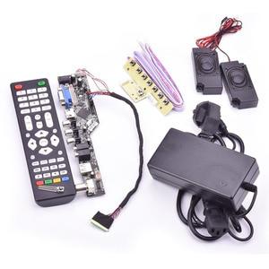 Image 5 - V53 universal TV lcd control board 10 42inch lvds driver board TV VGA AV HDMI USB DS.V53RL.BK full kit for LTN156AT01 A01
