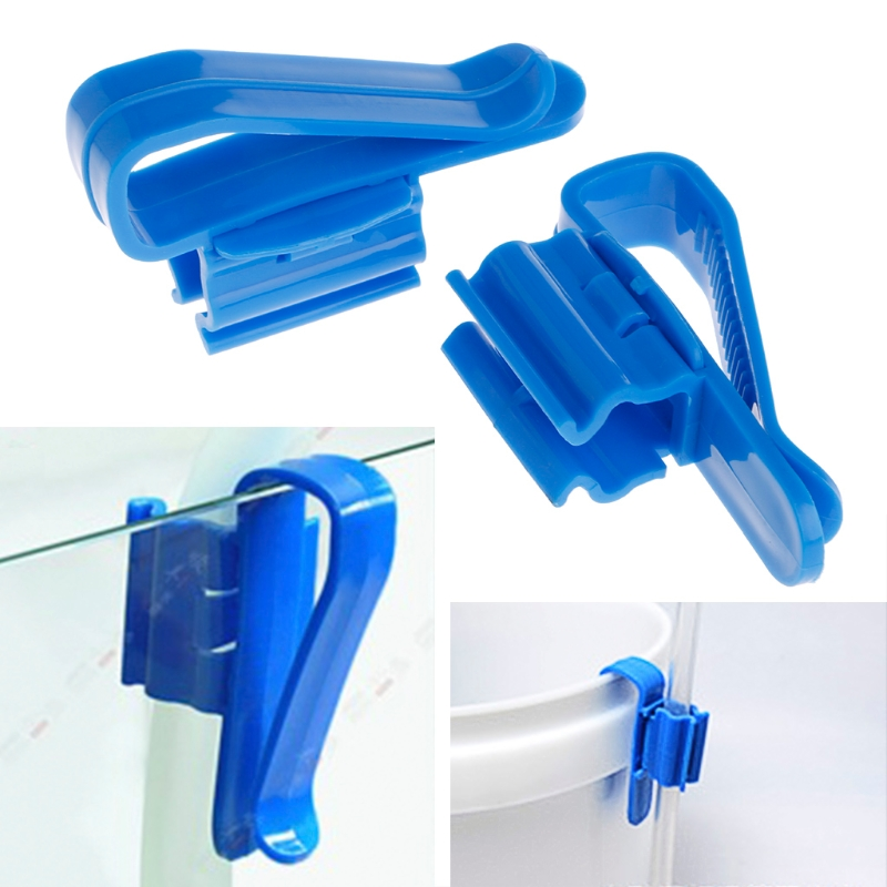 Blue Fish Aquarium Fish Tank Filtration Water Pipe Filter Hose Holder For Mount Tube Tank Accessories