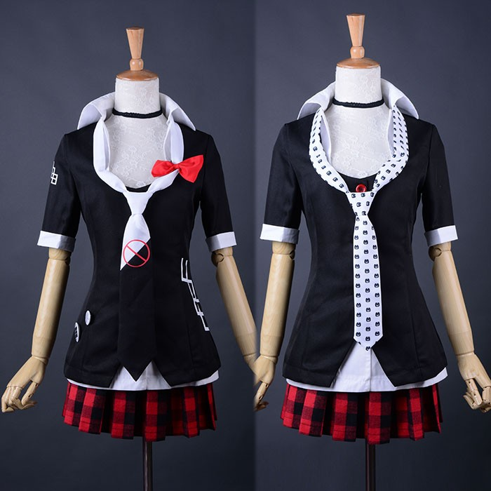 <font><b>Danganronpa</b></font> Cosplay Dangan Ronpa Junko Enoshima Emboitement Inushio Kimuchi Symbol Mark Sign Trigger Happy Havoc Cosplay Costume image
