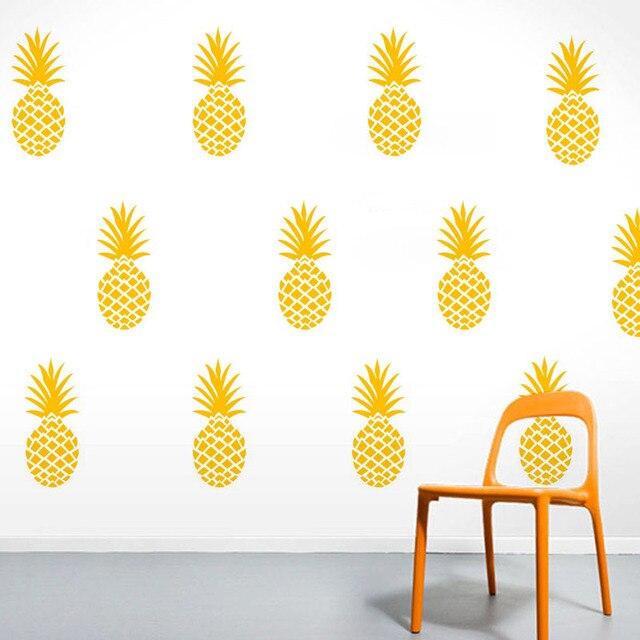 Pineapple Wall Stickers DIY Creative Home Decor Kids Bedroom Wall ...