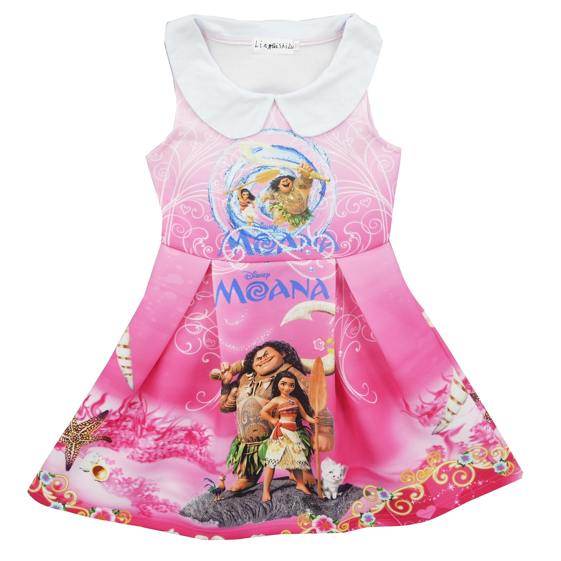 Baby Girls Dresses New 2018 Brand Summer Moana Dress Kids Clothes Vestido Princesa Character Children Vaiana Dress Mona Clothing