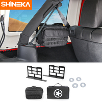 Shineka 롤 바 부팅 보관 가방 마운트 브래킷 도구 키트 캠핑 매트 트렁크 커버 지프 랭글러 jk jl 2007-2018 액세서리