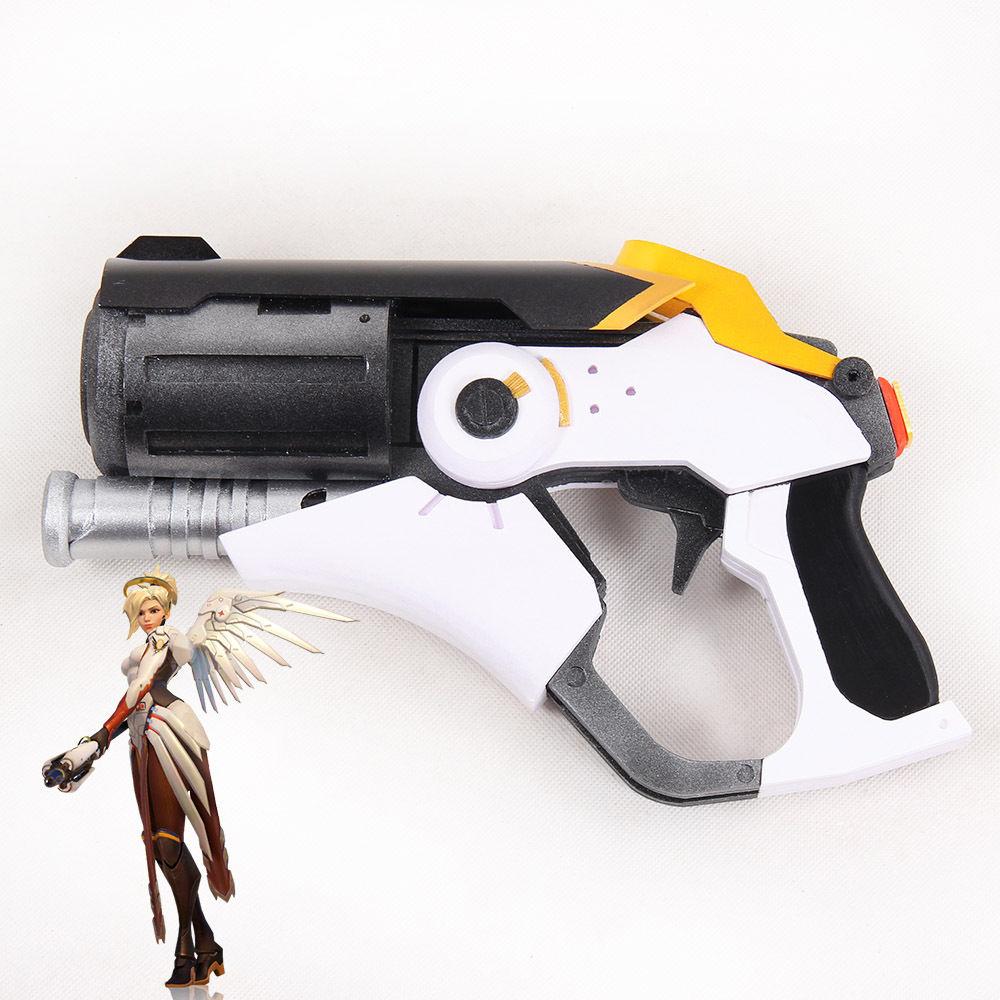 Здесь продается  hot game Over and watch OW Mercy Caduceus Blaster Gun Weapon PVC Cosplay Halloween Prop Gift Handmade   Одежда и аксессуары