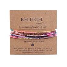 KELITCH бисер Miyuki бисерные браслеты с кисточками браслеты дружбы регулируемый браслет обертывание талисманы браслет с кристаллами