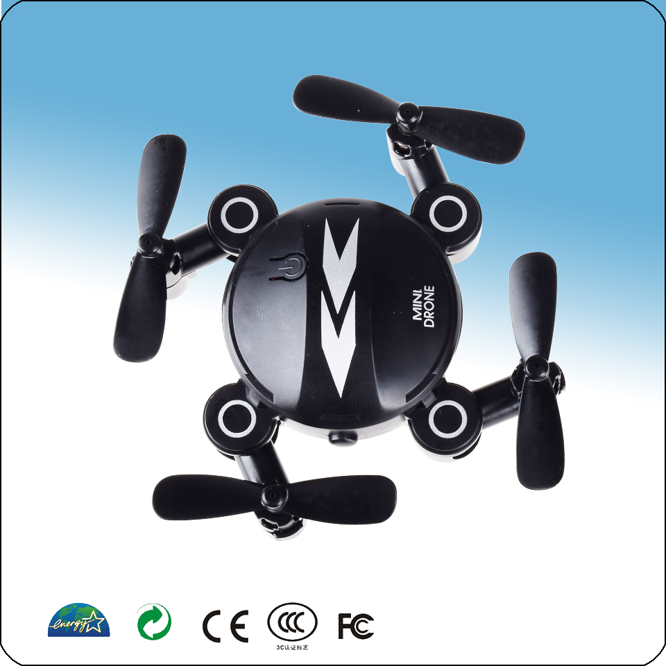 Min Foldable Drone With Camera HD Drone Quad copter Rc Dron Altitude Hold Headless Mode Helicopter