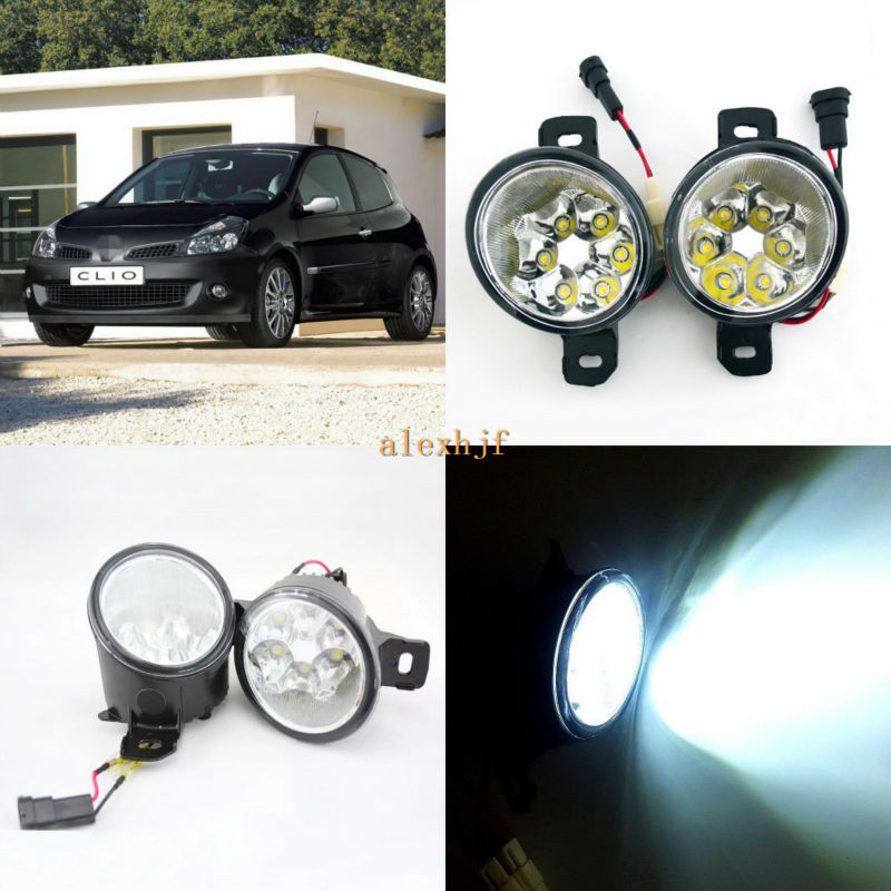 July King 18W 6LEDs H11 LED Fog Lamp Assembly Case for Renault Clio 2001~2009,  6500K 1260LM LED Daytime Running Lights бампер передний на renault clio 2001