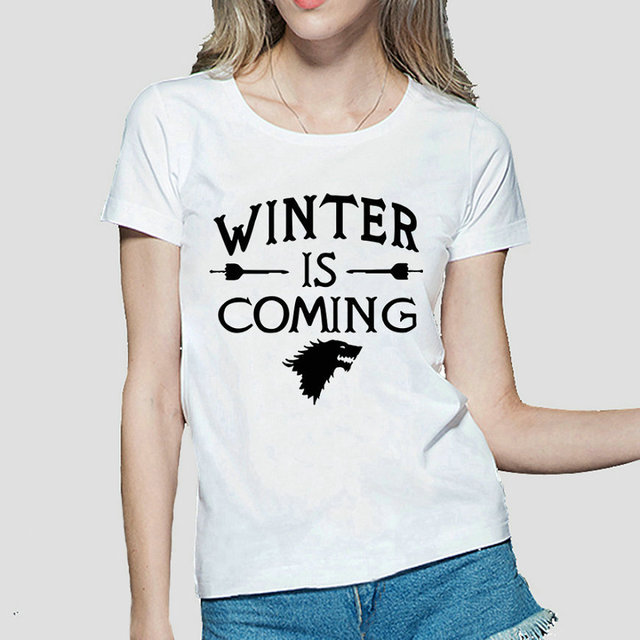 Game Of Thrones Winter is Coming Cotton Casual Women's T-shirt