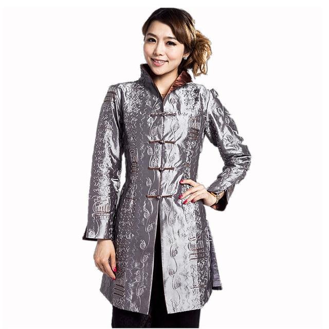 Aliexpress Buy Hot Sale Gray Chinese Womens Silk Satin Jacket