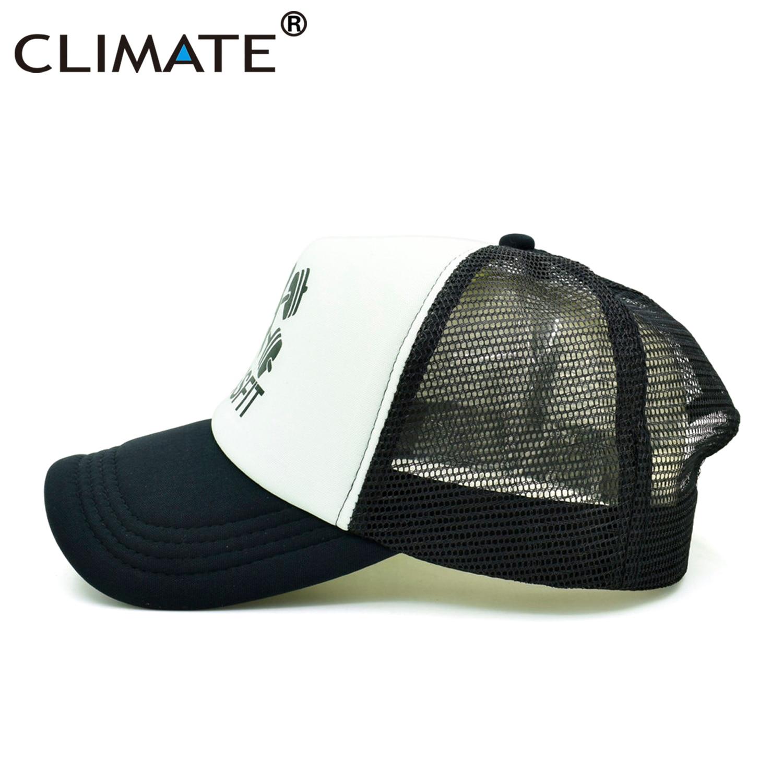 CLIMATE Men Trucker Cap GYM Crossfit Cap Men Dumbbell Kettle bell Fitness  Fans Mesh Body Building Muscle Black Caps Hat for Men-in Baseball Caps from  ... 9a1fe7167c