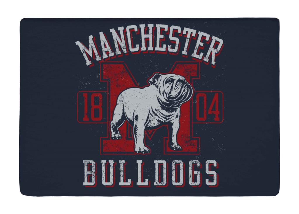 Floor Mat Vintage Navy and Red Bulldog Print Non slip Rugs Carpets alfombra For font b