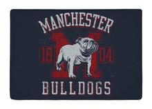 Floor Mat Vintage Navy and Red Bulldog Print Non-slip Rugs Carpets alfombra For Indoor Outdoor living kids room