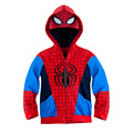 On Sale! 2015 Autumn And Winter New Fashion Children Spider man Coat For Boys Jacket Spiderman Outerwear Kids hoodies