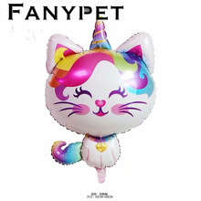 1pc big Unicorn Cat Balloons Cartoon animal pet foil ballons Baby Shower Party Birthday Wedding Decoration kids gift toys