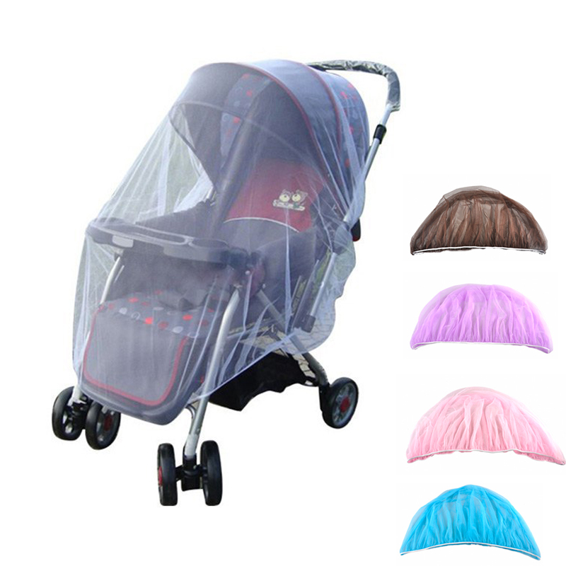 цена на Baby Stroller Pushchair Mosquito Insect Shield Net Safe Infants Protection Mesh Stroller Accessories Mosquito Net 150cm