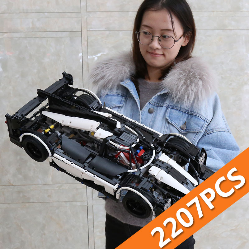 23018 Technic samochód MOC 5530 Hybrid Super Speed samochód kompatybilny z dla dzieci zabawki dla dzieci klocki klocki zabawki dla dzieci prezenty w Klocki od Zabawki i hobby na  Grupa 1