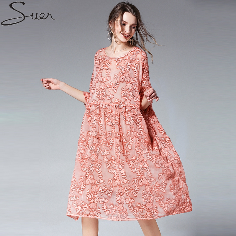 Pregnant Dress Tow Pieces Set Women Casual Loose Flower Embroidery Pregnancy Dress Fashion New Arrival Summer Maternity Clothes