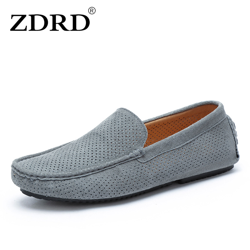 2017 new summer slippers Mens Casual leather shoes mens breathable soft gommino drive