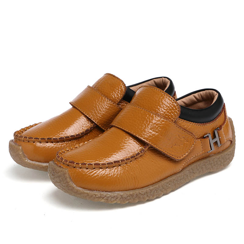 Children shoes spring new arrival boys leather shoes soft bottom kids boy casual solid shoes high quality