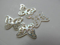 high quality 9x11mm 12pcs handmade flower carved MOP shell mother of pearl butterfly carved jewelry bead